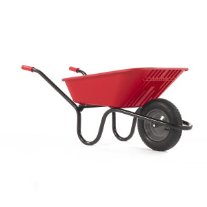 Wheelbarrow Red Polypro with Pneumatic Wheel 90L