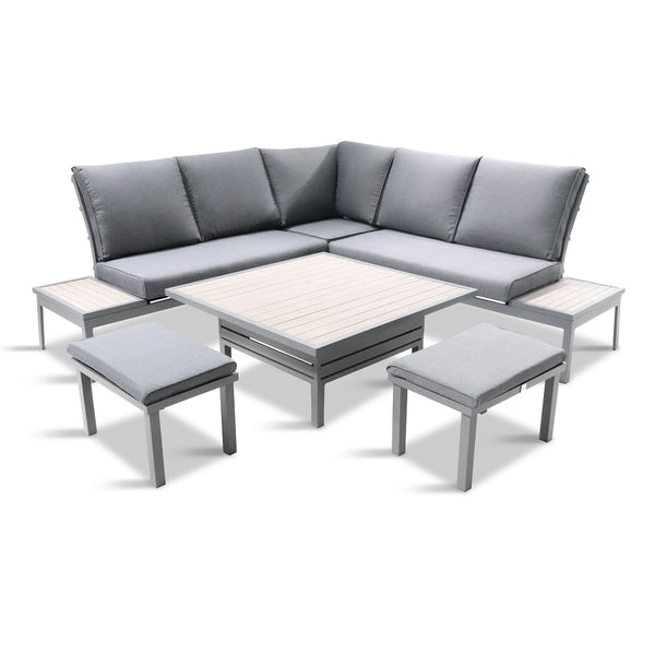 Milano Modular Dining Lounge Set with Adjustable Table