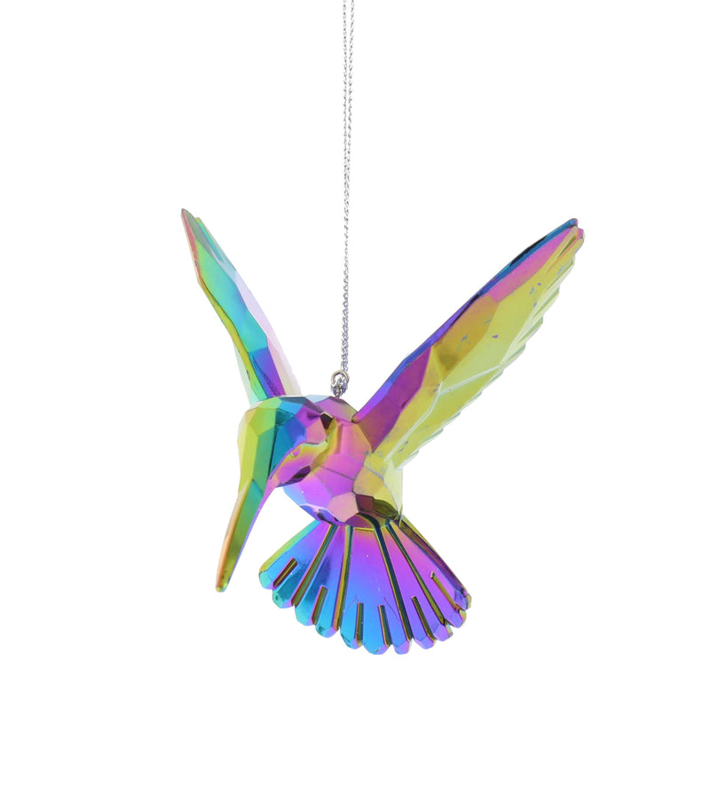 Festive Hanging Decoration Hummingbird Dark Iridescent 9cm