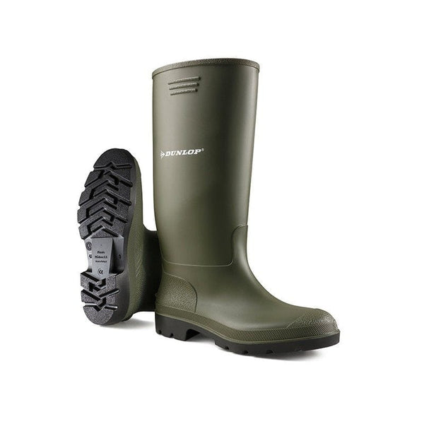 Dunlop Budgetmaster Unisex Full Length Wellington Boots Green - Size 4