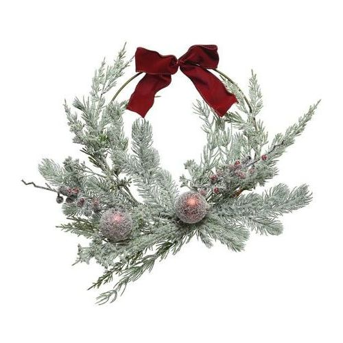 Buy Frosted Decorative Wreath w Bauble & Berries - Cornwall Garden Shop