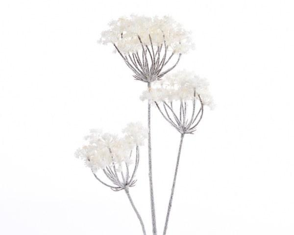 Buy Kaemingk Artificial Hogweed on Stem w Snowy Finish - Cornwall Garden Shop