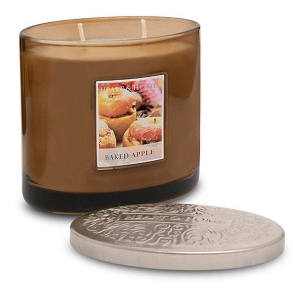 Heart & Home Baked Apple 2 Wick Scented Ellipse Candle