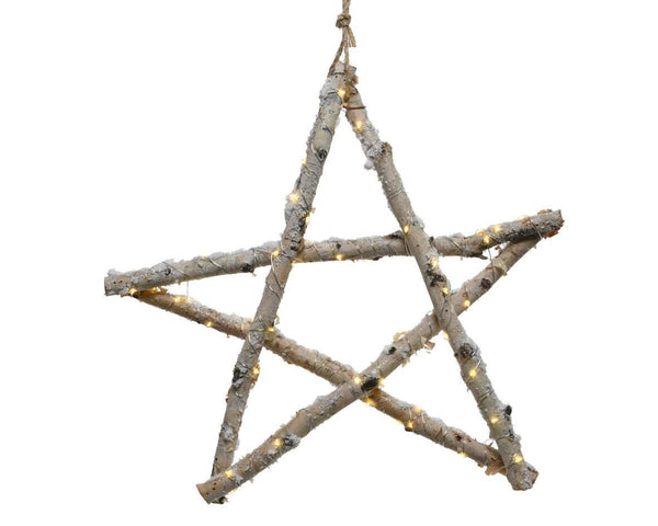 Buy Kaemingk Indoor LED Birch Star Hanger Battery Operated - Cornwall Garden Shop
