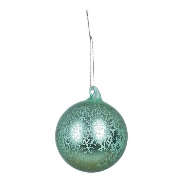 Buy 8cm Light Green Glass Christmas Bauble - Cornwall Garden Shop