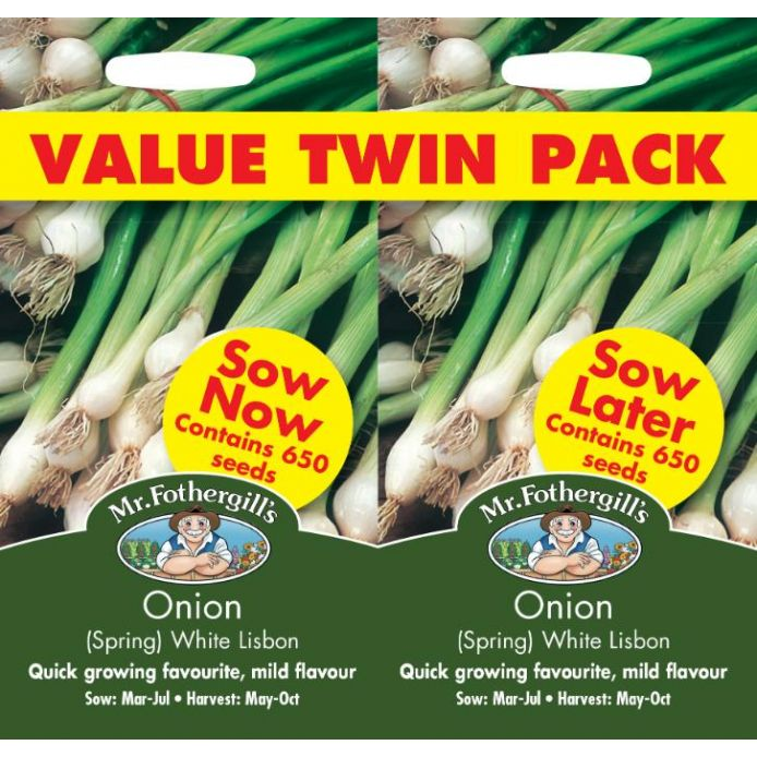 Onion (Spring) White Lisbon Bumper Pack Seeds
