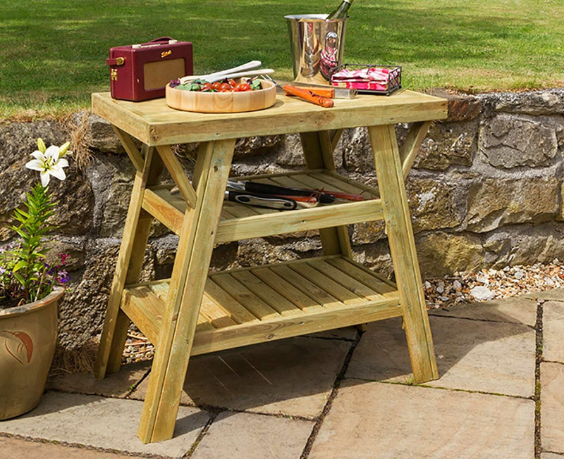 Zest4Leisure Wooden BBQ Side Table