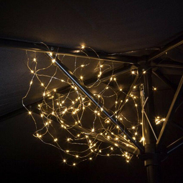 Copper Wire Firefly String Lights Solar Powered LED 2.4m - Cornwall Garden Shop