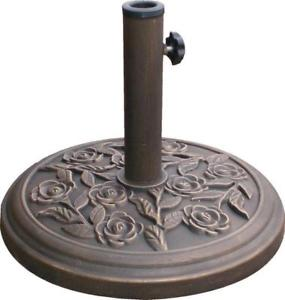 Parasol Base Cast Iron Effect