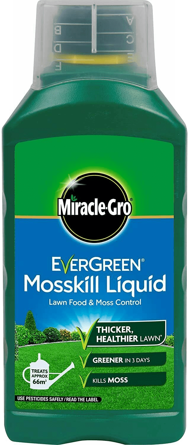 Miracle-Gro Evergreen Liquid Feed & Mosskil 1 Litre