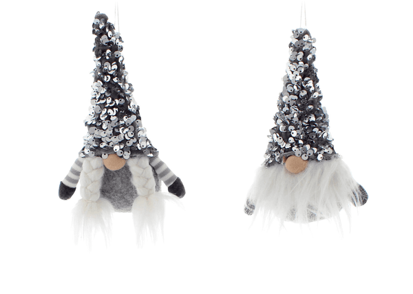 Buy 2 x Scandi Gonks Christmas Tree Hanging Decorations Sparkle Hats Girl & Boy - Cornwall Garden Shop
