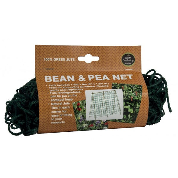 Pea & Bean Netting 1.8m x 1.8m Green