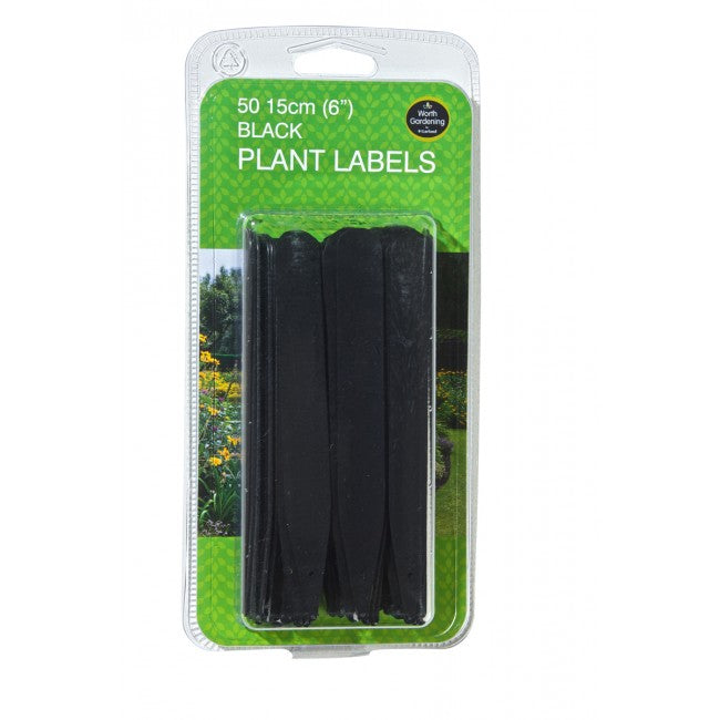"Plant Labels 6"" (15cm) Black (50pk)"