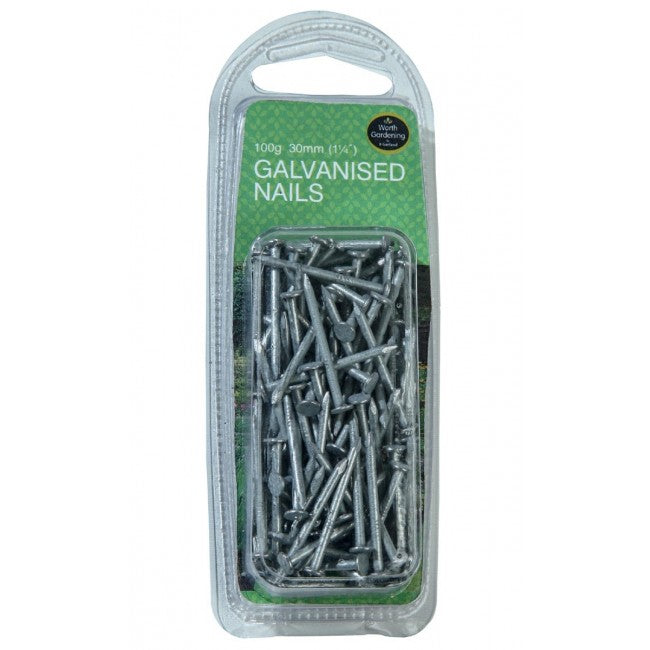 "Nails Galvanised 1 1/4"" (30mm) - 100g"