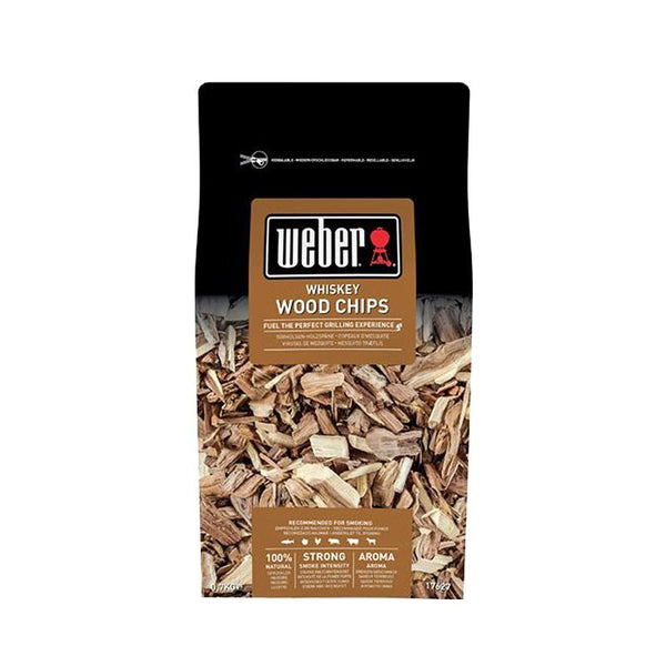 Weber Whiskey Wood Chips Barbecue Fuel 0.7kg Bag
