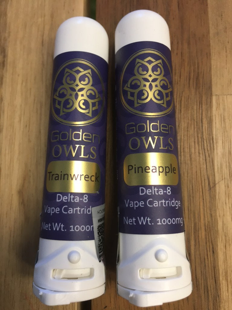 Golden Owls Delta 8 THC Cartridge - 1000MG