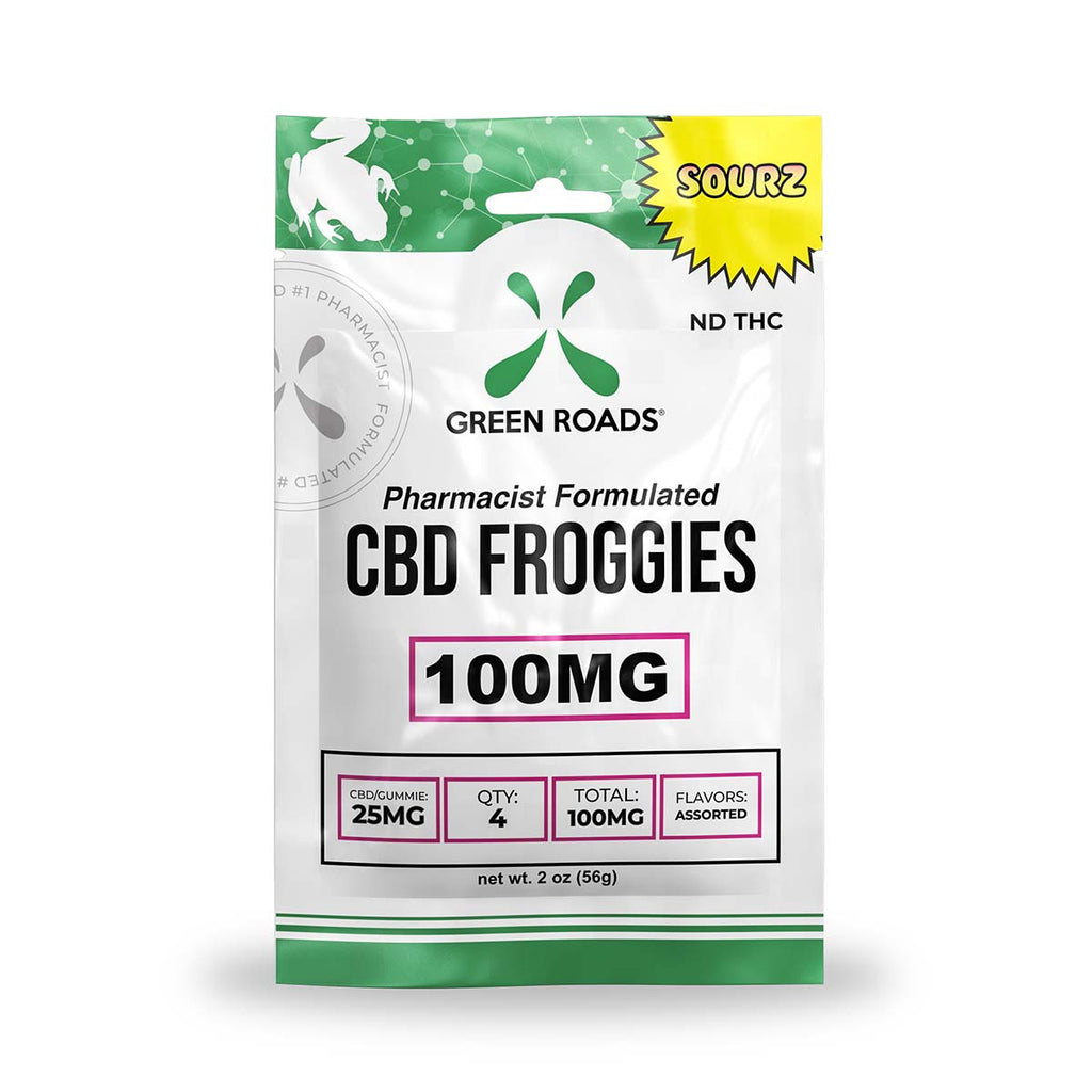 Green Roads Sour Froggies - Grass&Co CBD Washington DC Grass & Co Smoke Shop Washington DC CBD Oil CBD Flower CBD Hemp Cigarettes
