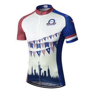 Retro America Cycling Jerseys Men Mtb Bike Bicycle Jersey Reflective  Maillot Ciclismo Vintage USA Cycling Shirt 61b7019c7