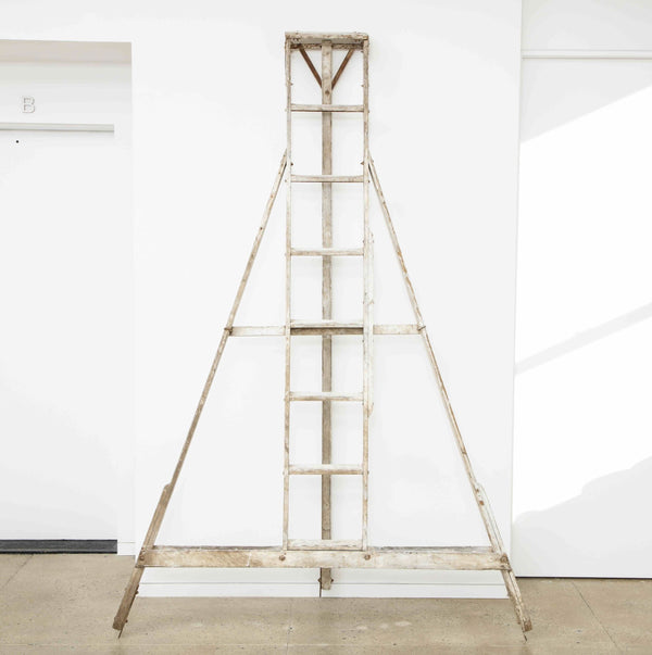 ANTIQUE FRUIT PICKING LADDER Vintage FOUND | MARKED