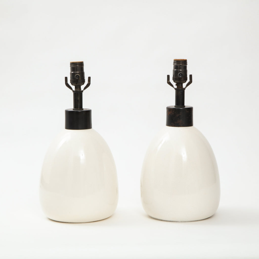 BEDSIDE CERAMIC TABLE LAMPS Lighting FOUND | MARKED