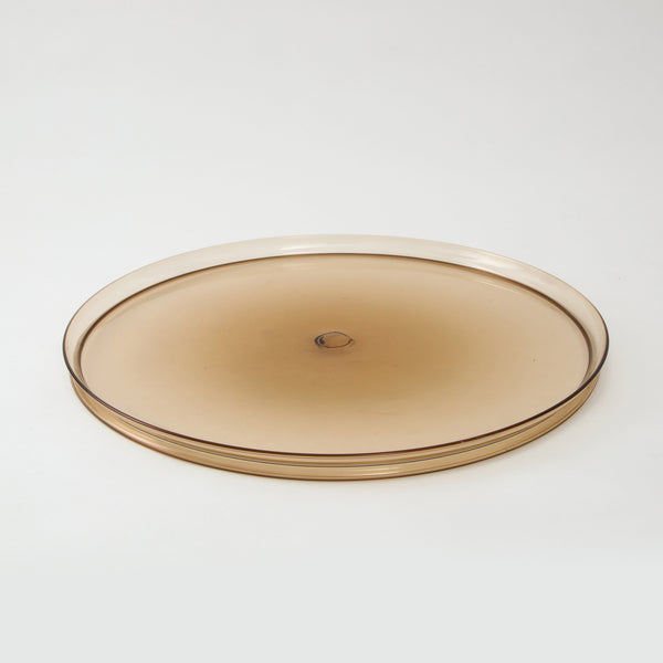 BLOWN GOLDEN SOFFIATO TRAY Vintage FOUND | MARKED