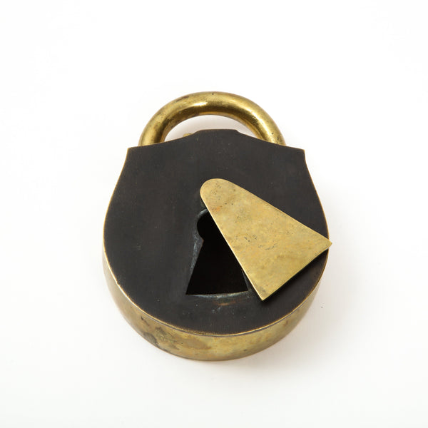 BRASS LOCK BOX Vintage FOUND | MARKED