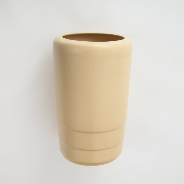 CERAMIC BEIGE VASE Vintage FOUND | MARKED