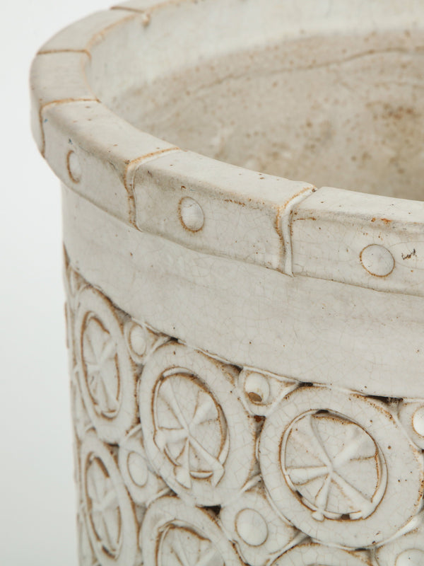 CERAMIC ORNAMENTAL PLANTER Vintage FOUND | MARKED