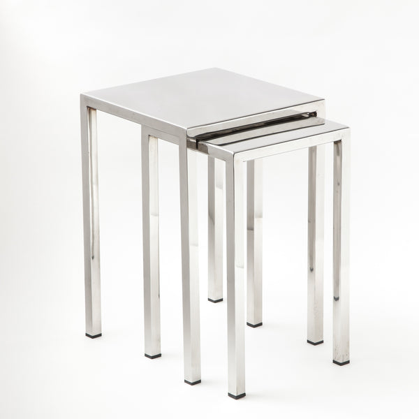 CHROME NESTING TABLES Vintage FOUND | MARKED