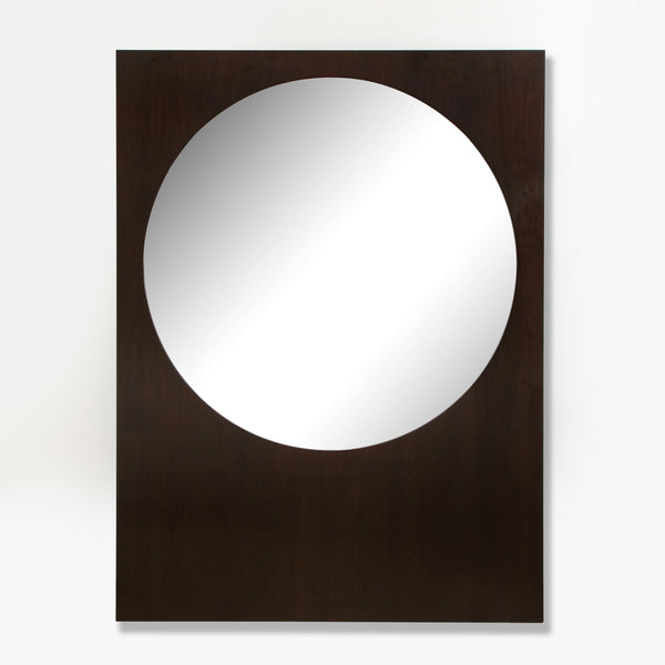 DARK STAINED OAK FRAMED MIRROR Mirror FOUND | MARKED