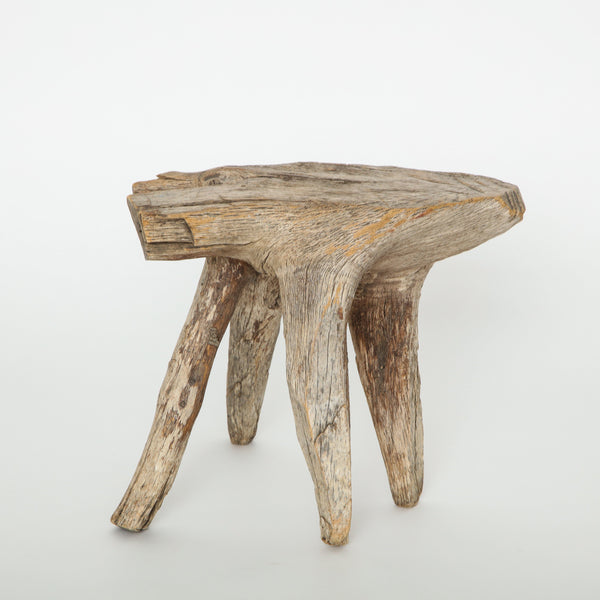 DRIFTWOOD STOOL Vintage FOUND | MARKED