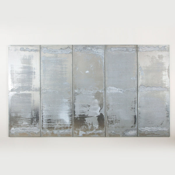 GALVANIZED METAL PANELS Vintage FOUND | MARKED
