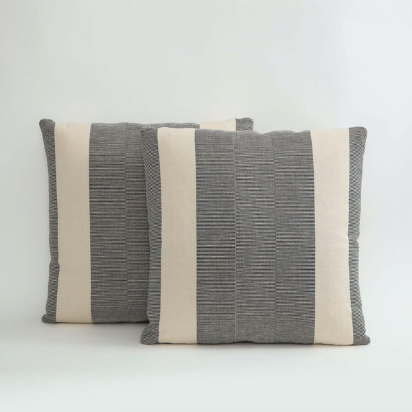 HUMBUG STRIPE | PEWTER PILLOW Fabric MARKED | MARKED