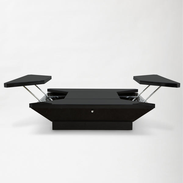 MAISON JANSEN | PETALES BLACK LACQUER COFFEE TABLE Vintage FOUND | MARKED