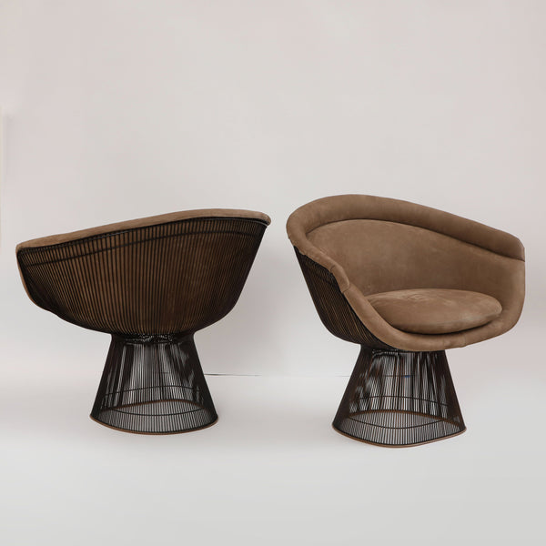 PAIR OF PLATNER LOUNGE CHAIRS Vintage FOUND | MARKED