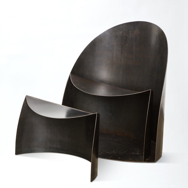 RICO EASTMAN | CHAIR AND STOOL Vintage FOUND | MARKED