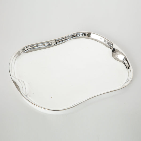 SILVER PLATED SERVING TRAY Vintage FOUND | MARKED