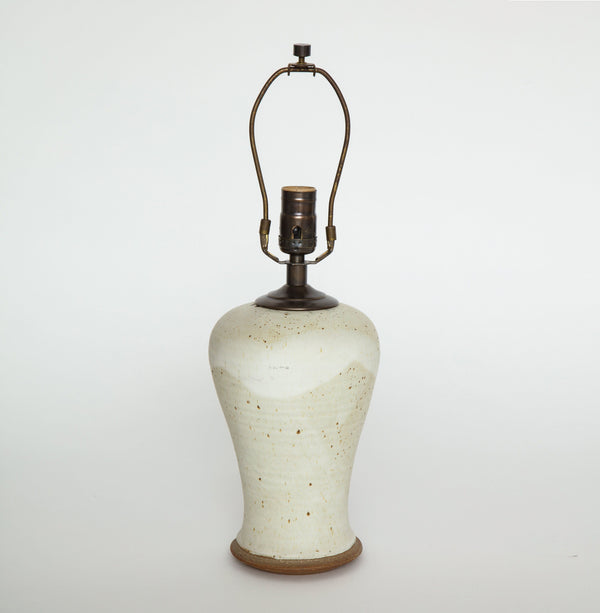 SPECKLED CERAMIC TABLE LAMP Lighting FOUND | MARKED
