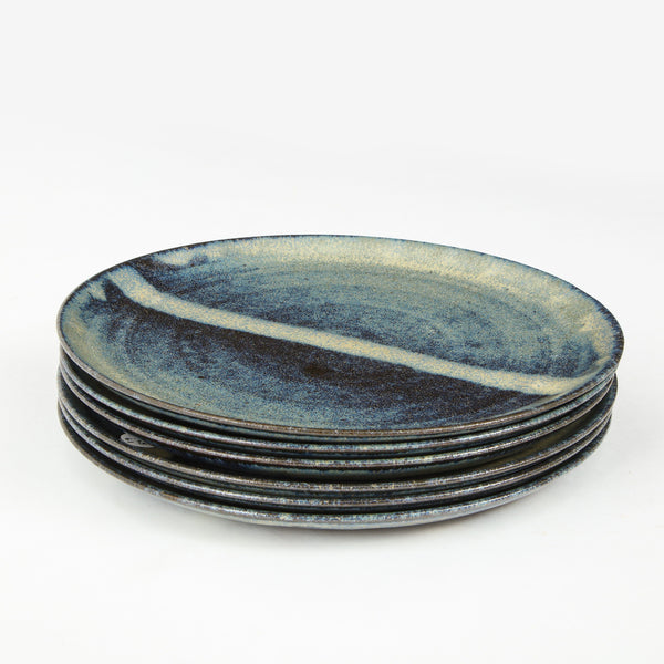 STUDIO POTTERY | DINNER PLATES Artisan FOUND | MARKED