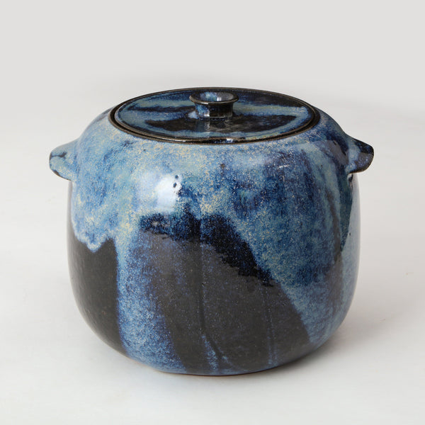 STUDIO POTTERY | LIDDED CONTAINER Artisan FOUND | MARKED
