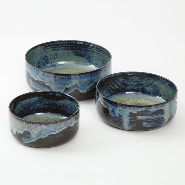 STUDIO POTTERY | NESTING BOWLS Artisan FOUND | MARKED