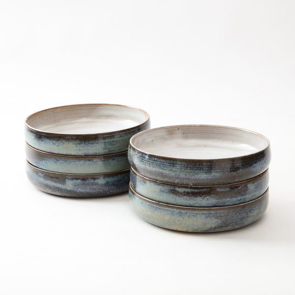 STUDIO POTTERY | SALAD PLATES Artisan FOUND | MARKED