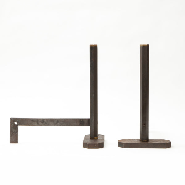 TOBIA SCARPA | ANDIRONS Vintage FOUND | MARKED