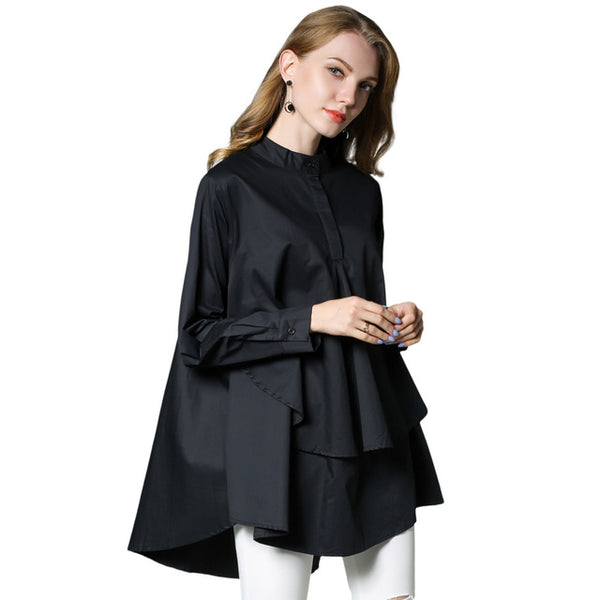Plus size Women casual shirts Loose thin shirt Long sleeve - Uniquely Fashion
