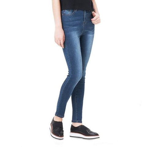 Jeans with High Waist Jeans Woman High Elastic plus size Stretch - Uniquely Fashion