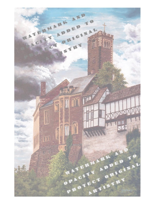 A Mighty Fortress is Our God Wartburg Castle Painting (NOTEBOOK)