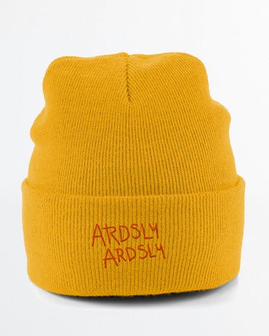 Mustard Baja Beanie / Embroidered-to-Order