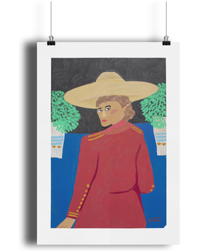 OAXACA WOMAN by Emma Greenwood / Art print / Pt.1 'HAT SERIES'
