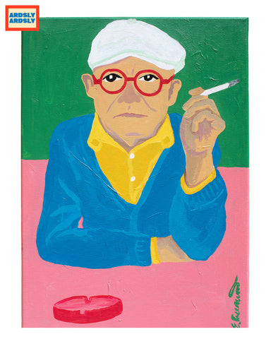 HOCKNEY by Emma Greenwood / Art print / Pt.3 'HAT SERIES'