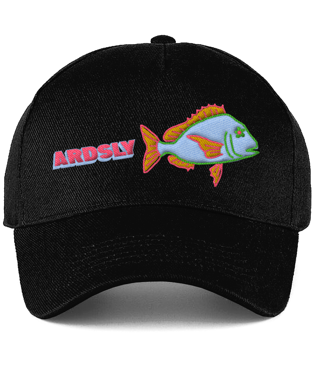 Fish Shop black Cap / Embroidered-to-Order